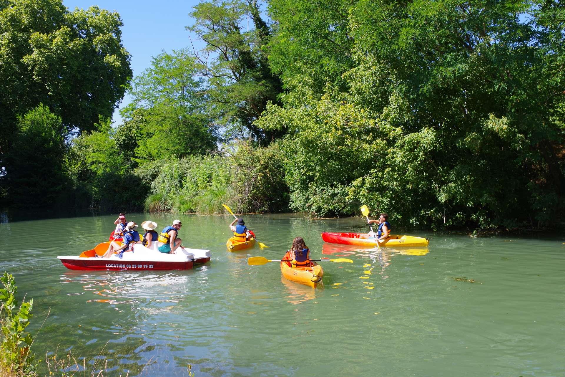 week end sur l'eau en famille sur petites embarcations